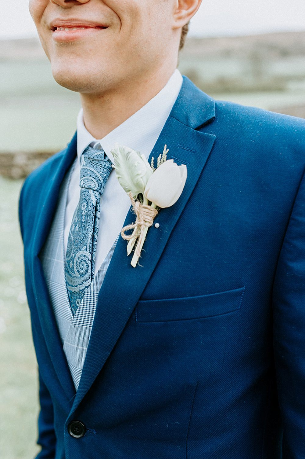 Groom Suit Navy Tie Blue Gold Wedding Ideas Ailsa Reeve Photography