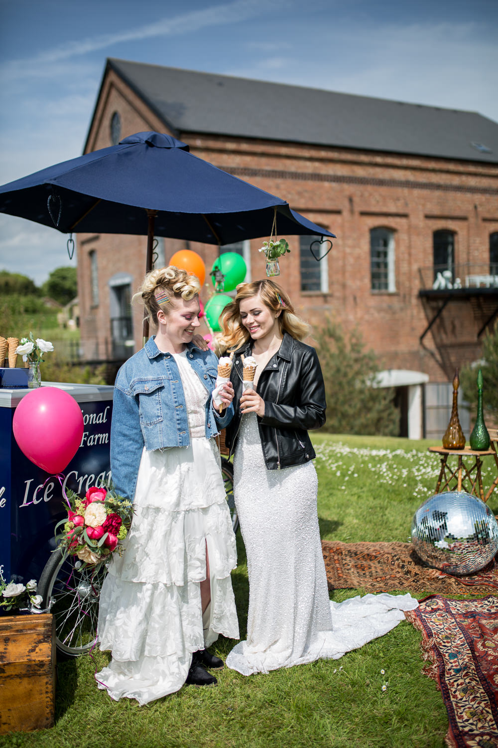 Ice Cream Cart Colourful Balloons Wedding Ideas Florence Berry Photography