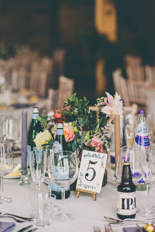 Table Number Mini Easel High Billinghurst Farm Wedding Larissa Joice Photography