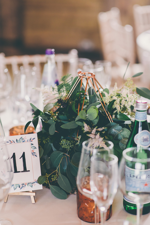 Terrarium Centrepiece Decor Flowers High Billinghurst Farm Wedding Larissa Joice Photography