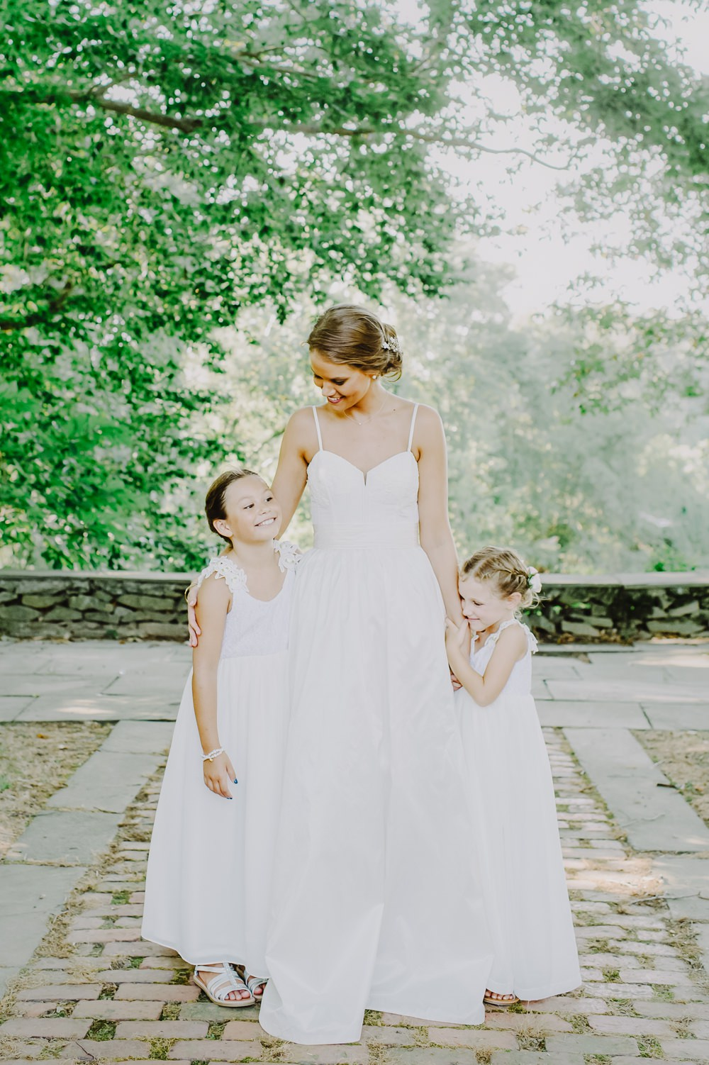 Flower Girls Dresses Maryland Wedding L. Hewitt Photography