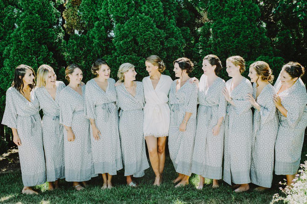 Dressing Gown Robe Bride Bridal Bridesmaids Maryland Wedding L. Hewitt Photography