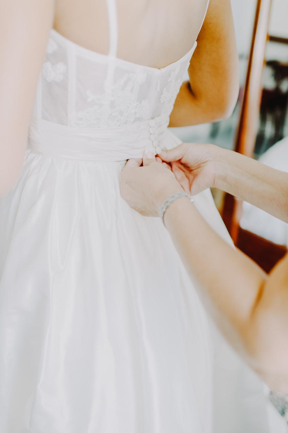 Dress Gown Bride Bridal Princess Straps Back Maryland Wedding L. Hewitt Photography