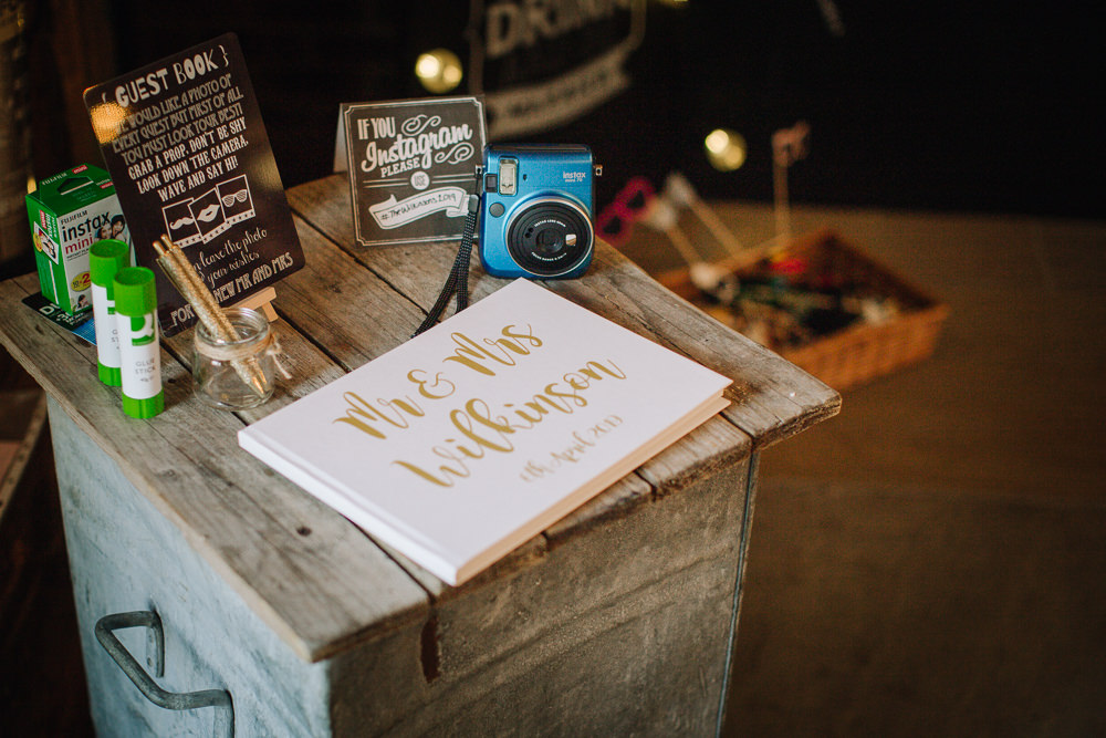 Photo Camera Guest Book Owen House Wedding Barn Nessworthy Photography