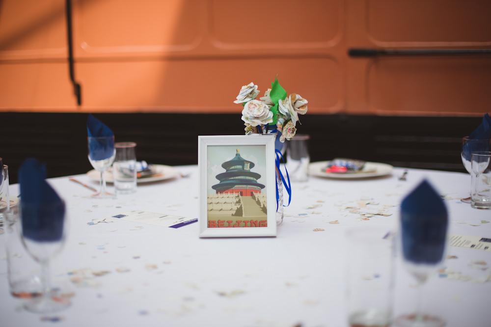 Travel Place Table Names Buckinghamshire Railway Centre Wedding Sasha Weddings