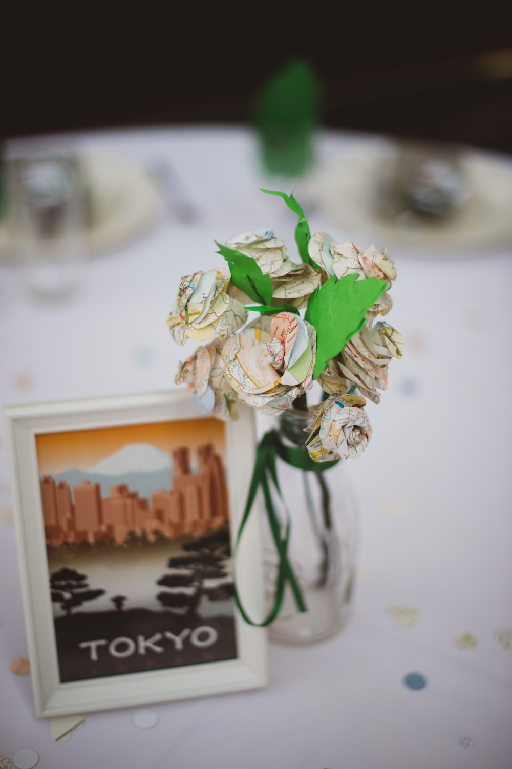 Paper Flower Centrepiece Decor Decoration Book Literature Buckinghamshire Railway Centre Wedding Sasha Weddings