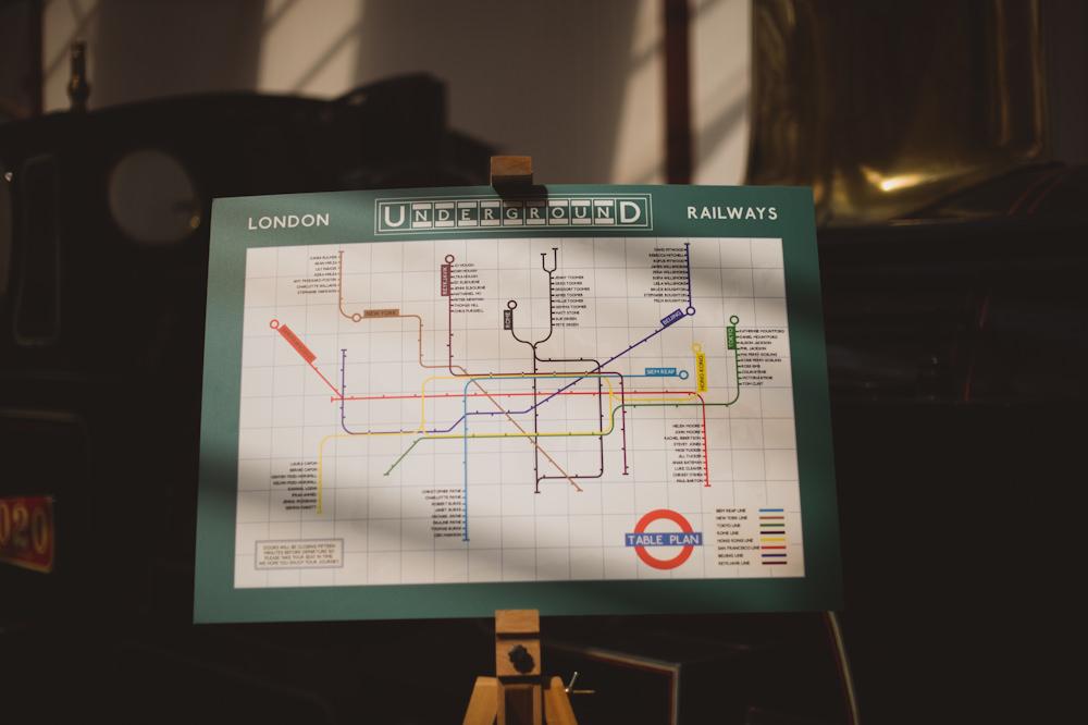 Tube Line Train Map Travel Seating Plan Table Chart Buckinghamshire Railway Centre Wedding Sasha Weddings