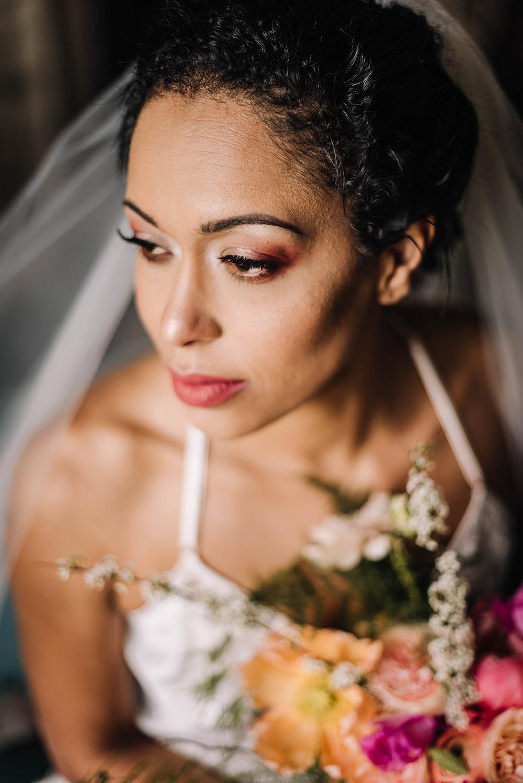Bride Bridal Make Up Coral Floral Wedding Ideas Birgitta Zoutman Photography