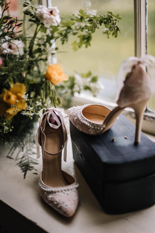 Bride Bridal Shoes Heels Coral Floral Wedding Ideas Birgitta Zoutman Photography