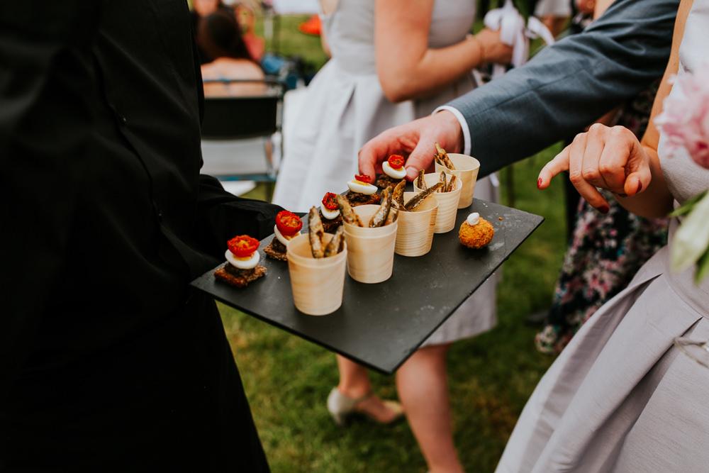 Canapes DIY Village Hall Wedding PhotoBart