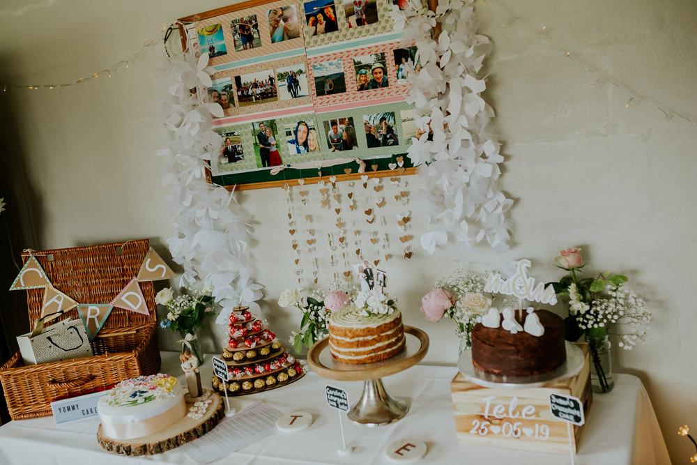 Cake Dessert Table DIY Village Hall Wedding PhotoBart