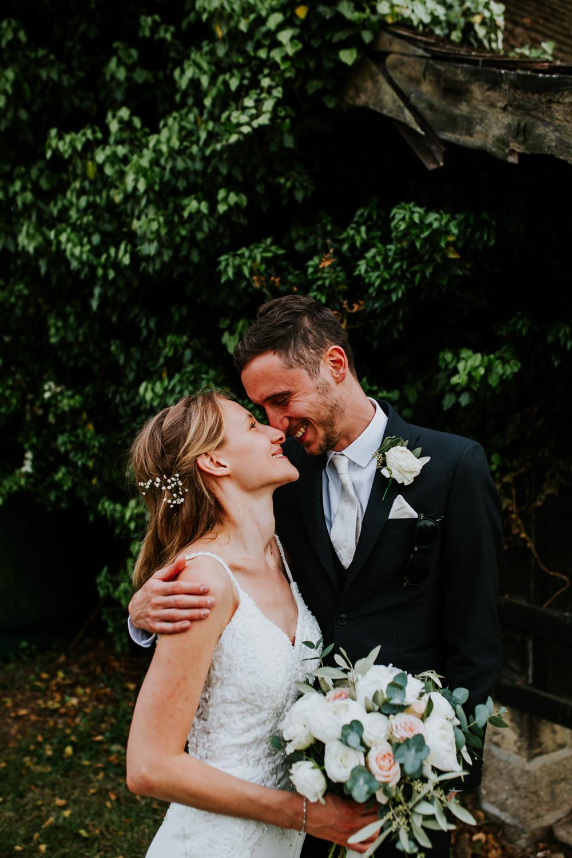 Groom Suit Tie DIY Village Hall Wedding PhotoBart