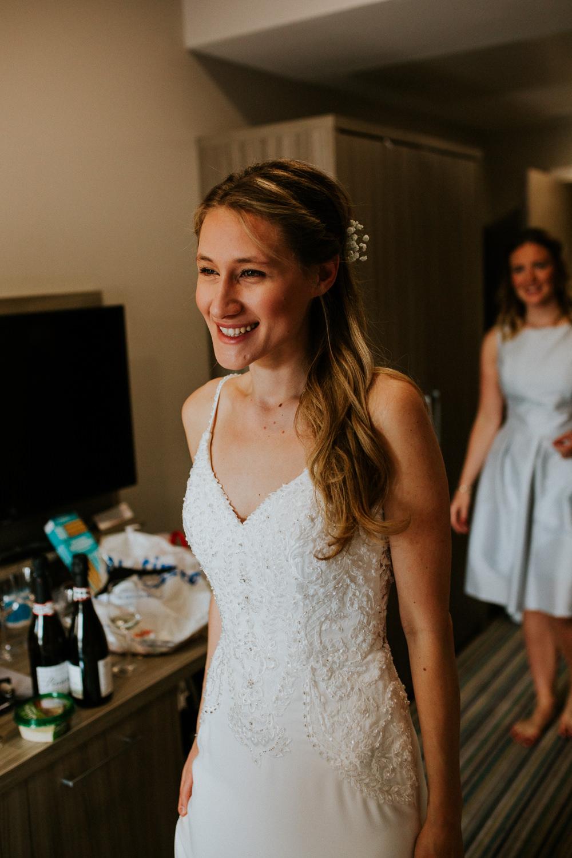 Bride Bridal Dress Gown Straps Train Strappy Beaded DIY Village Hall Wedding PhotoBart