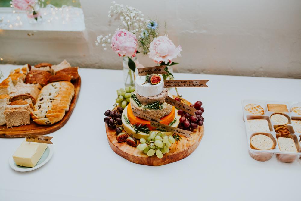 Cheese Cake Tower Stack DIY Village Hall Wedding PhotoBart