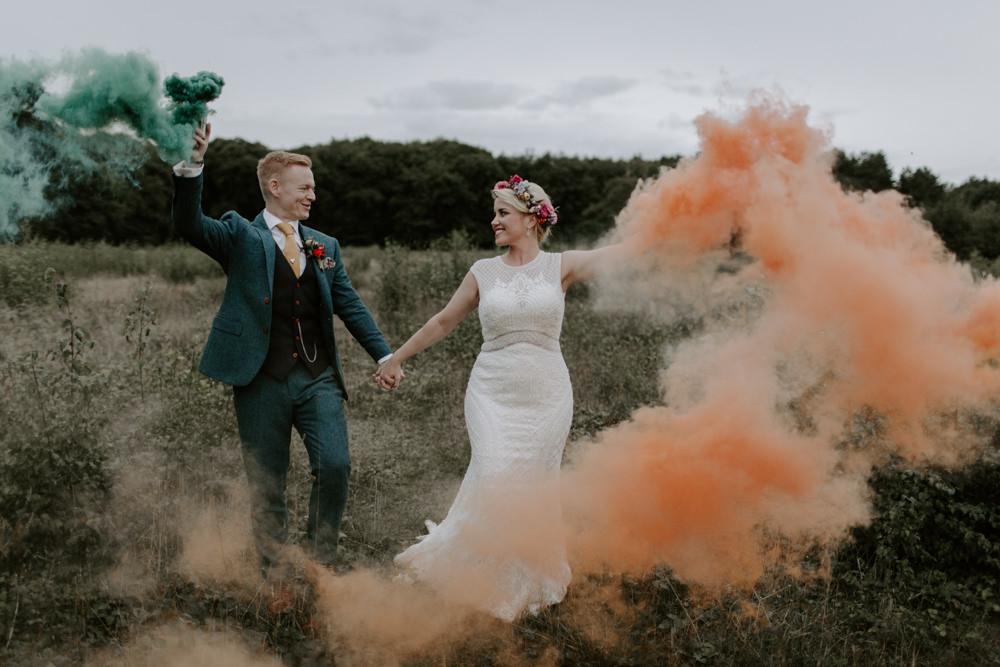 Smoke Bombs Dreys Wedding Grace & Mitch Photo & Film