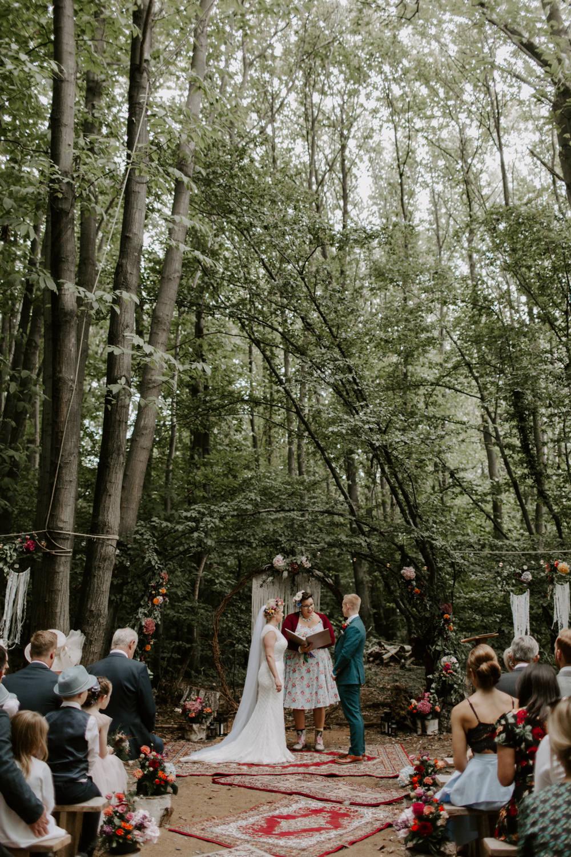 Woodland Ceremony Outdoor Dreys Wedding Grace & Mitch Photo & Film