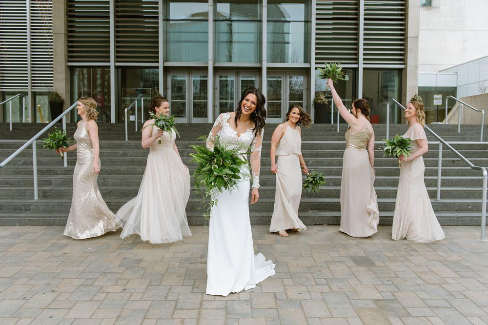 Bridesmaids Bridesmaid Dress Dresses Blush Greenhouse Michigan Wedding Jean Smith Photography