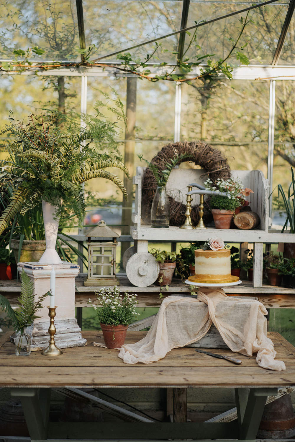Cake Dessert Table Greenhouse Wedding Kit Myers Photography