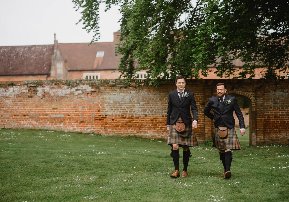 Kilt Suit Groom Groomsmen Oxnead Hall Wedding Luis Holden Photography