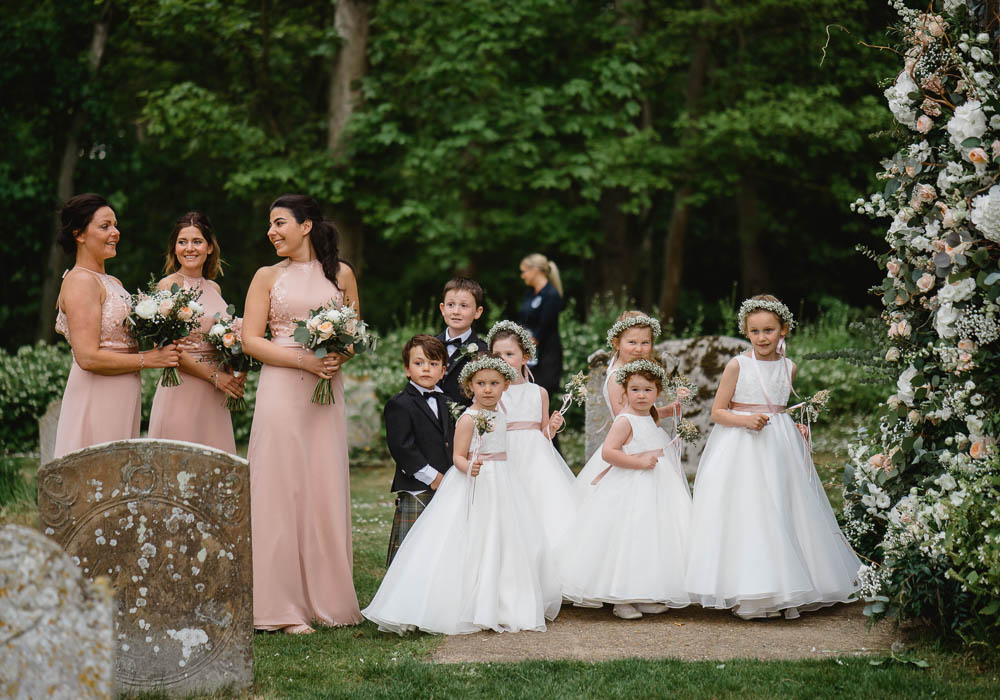 Flower Girl Dresses Flower Crown Ribbon Sash Oxnead Hall Wedding Luis Holden Photography