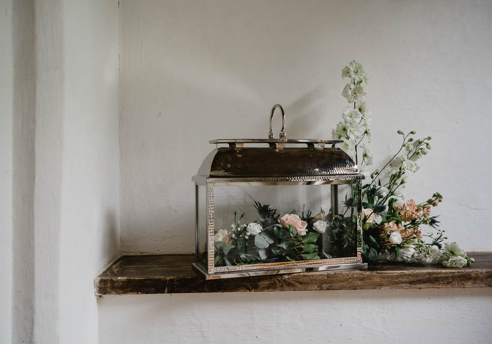 Church Flowers Terrarium Oxnead Hall Wedding Luis Holden Photography