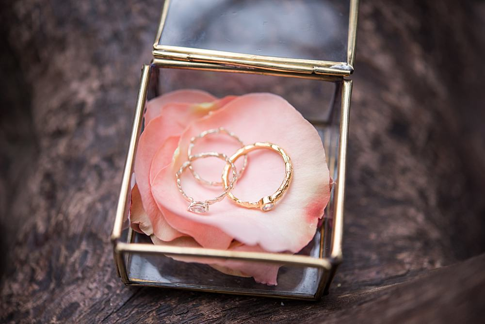Rings Bands Box Peach Gold Wedding Ideas Jane Beadnell Photography