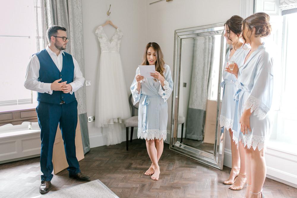 Bride Bridesmaids Dressing Gown Robes Saltmarshe Hall Wedding Jessica Davies Photography