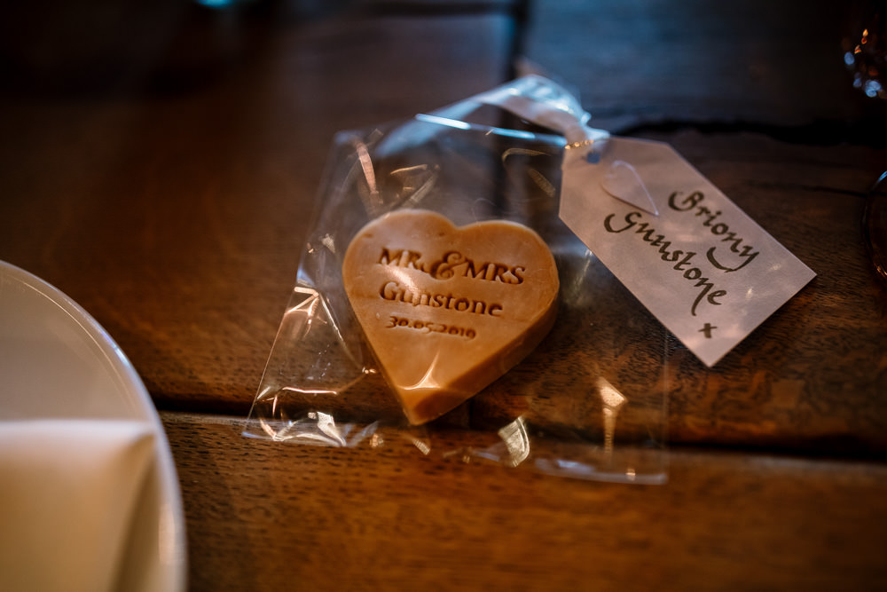 Heart Biscuits Cookie Favours Fudge Wharfedale Grange Wedding Hayley Baxter Photography