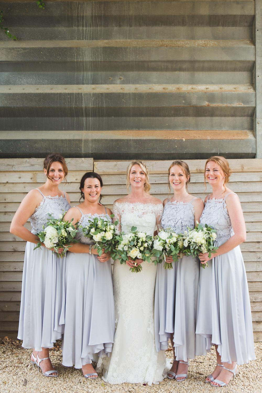 Bridesmaids Bridesmaid Dress Dresses Grey Lace Midi Airbnb Wedding Pickavance Weddings