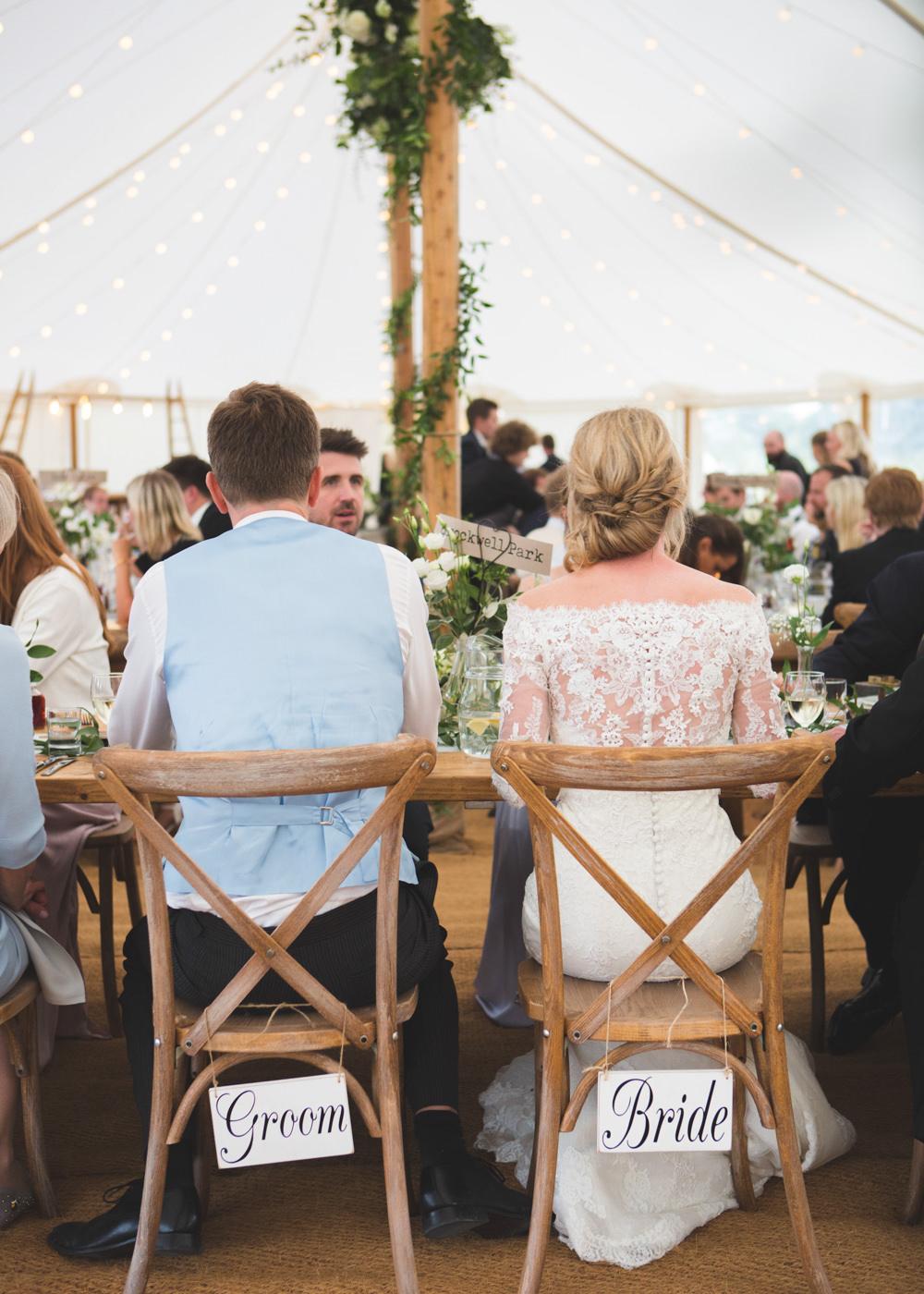 Chairs Bride Groom Signs Airbnb Wedding Pickavance Weddings