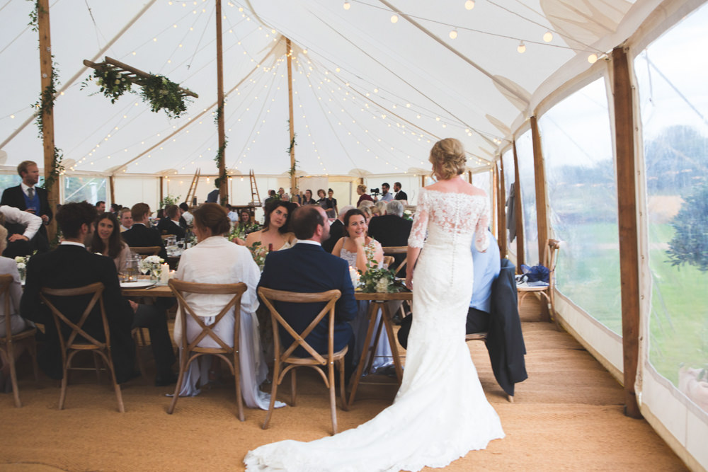 Bride Bridal Dress Gown Lace Sleeves Bardot Off Shoulder Pronovias Fit Flare Veil Airbnb Wedding Pickavance Weddings