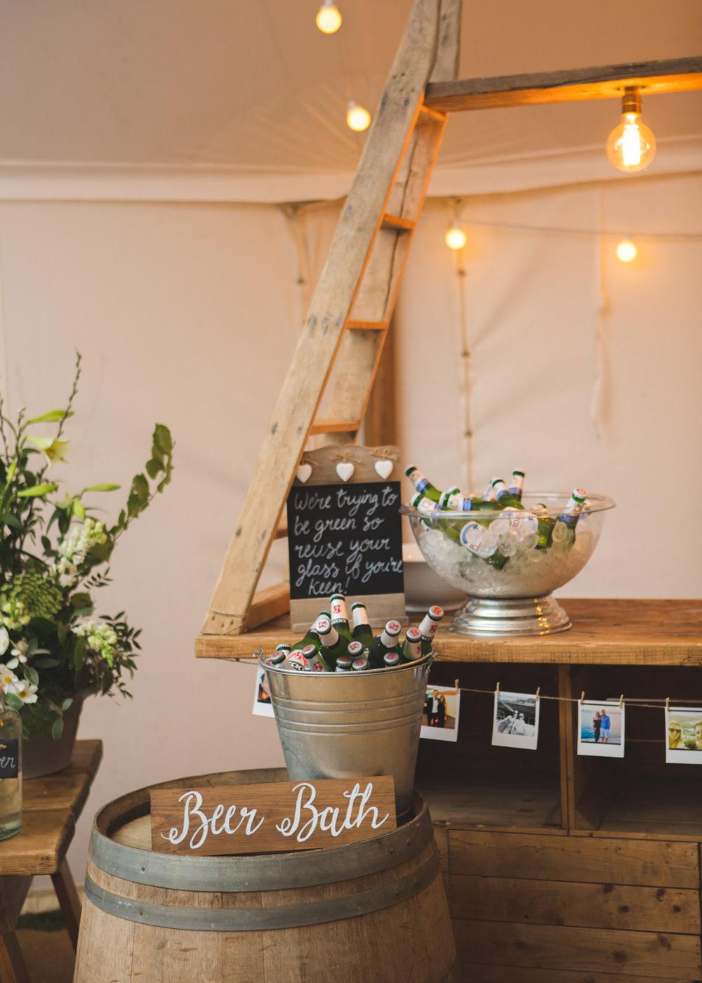 Booze Bath Bar Stand Station Drinks Beer Airbnb Wedding Pickavance Weddings