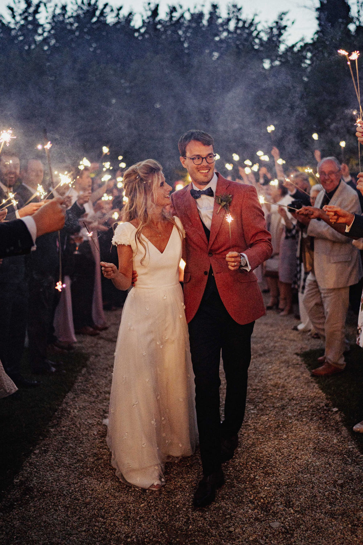 Sparkler Send Off Exit Boho Country Wedding Kit Myers Photography