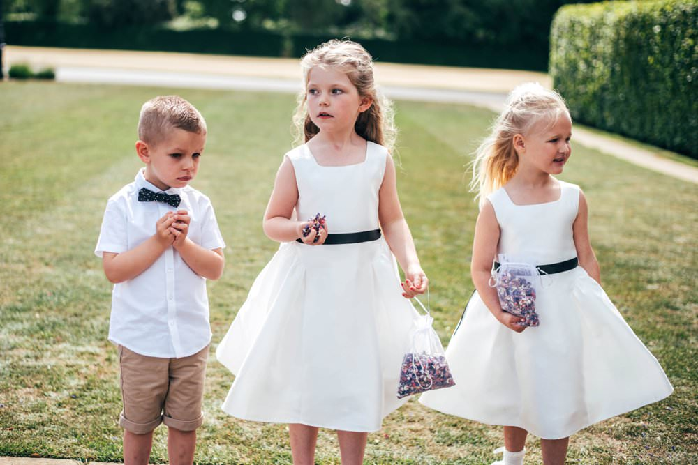 Flower Girl Dresses Page Boy Bow Tie Shorts Chichester Hall Wedding Three Flowers Photography