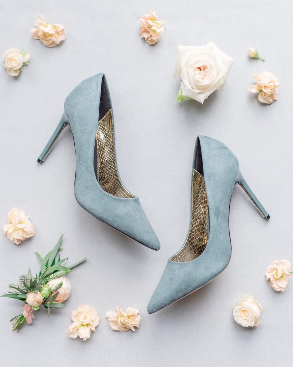 Blue Shoes Bride Bridal Elegant Wedding Ideas Yll Weddings
