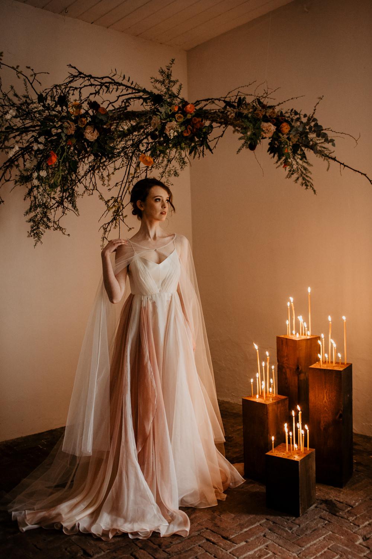Bridesmaid Bridesmaids Dress Dresses Burnt Orange Cape Veil Elopement Wedding Ideas Oilvejoy Photography