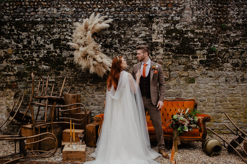 Dress Gown Bride Bridal Organza Ballet Cape Veil Hood Elopement Wedding Ideas Oilvejoy Photography
