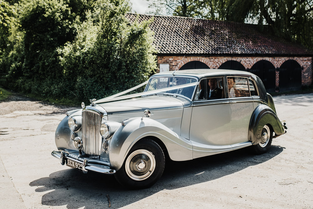 Bridal Transport Traditional Car Middlethorpe Hall Wedding Andy Withey Photography