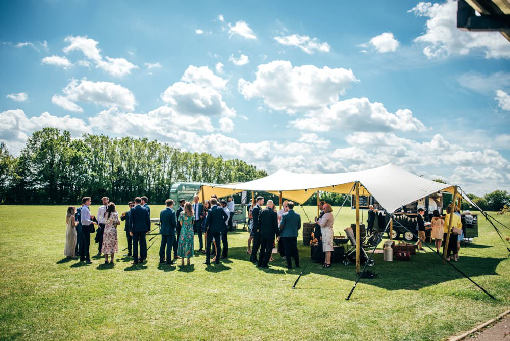 Stretch Tent Village Hall Outdoor DIY Wedding Three Flowers Photography