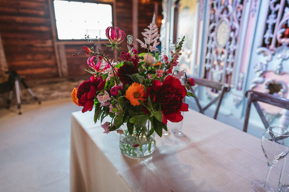 Flowers Florals Red Pink Orange Preston Court Wedding The Last Of The Light