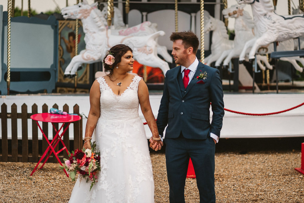 Bride Bridal V Neck A Line Dress Lace Overlay Blue Suit Groom Preston Court Wedding The Last Of The Light