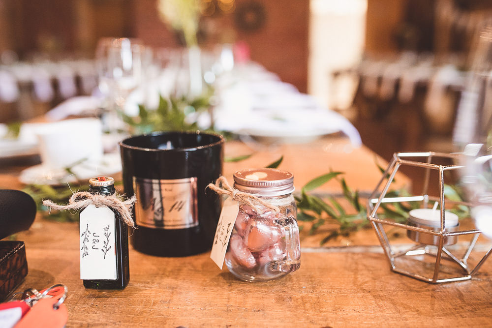 Sweets Favours Bottle Barn Wedding Shropshire Brightwing Photography