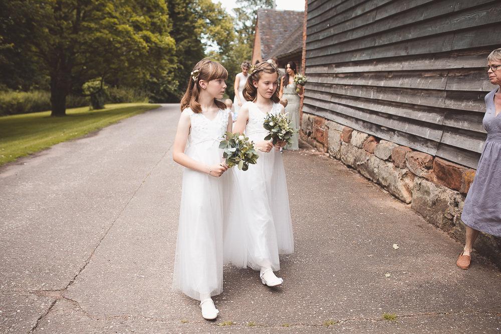 Flower Girls Barn Wedding Shropshire Brightwing Photography