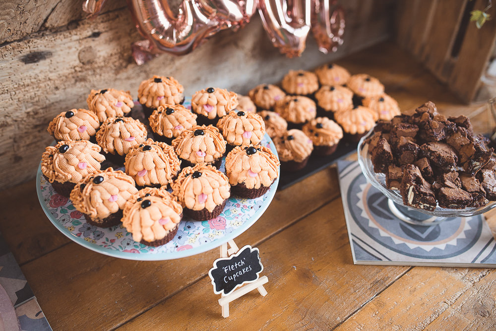 Cake Dessert Table Barn Wedding Shropshire Brightwing Photography