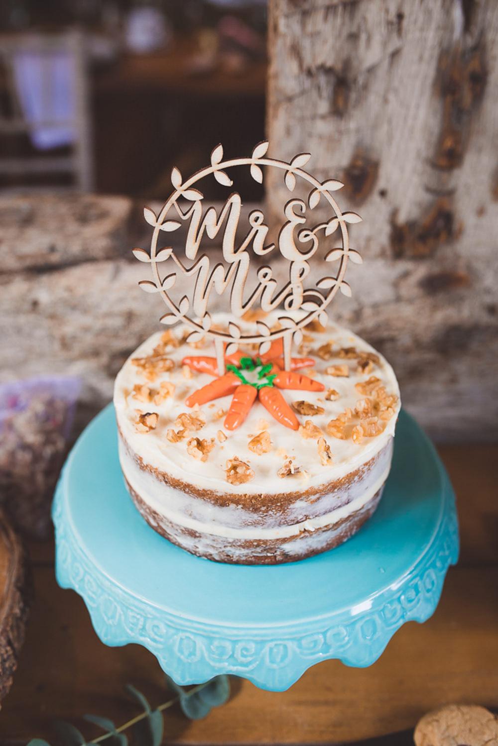 Semi Naked Cake Laser Cut Topper Barn Wedding Shropshire Brightwing Photography
