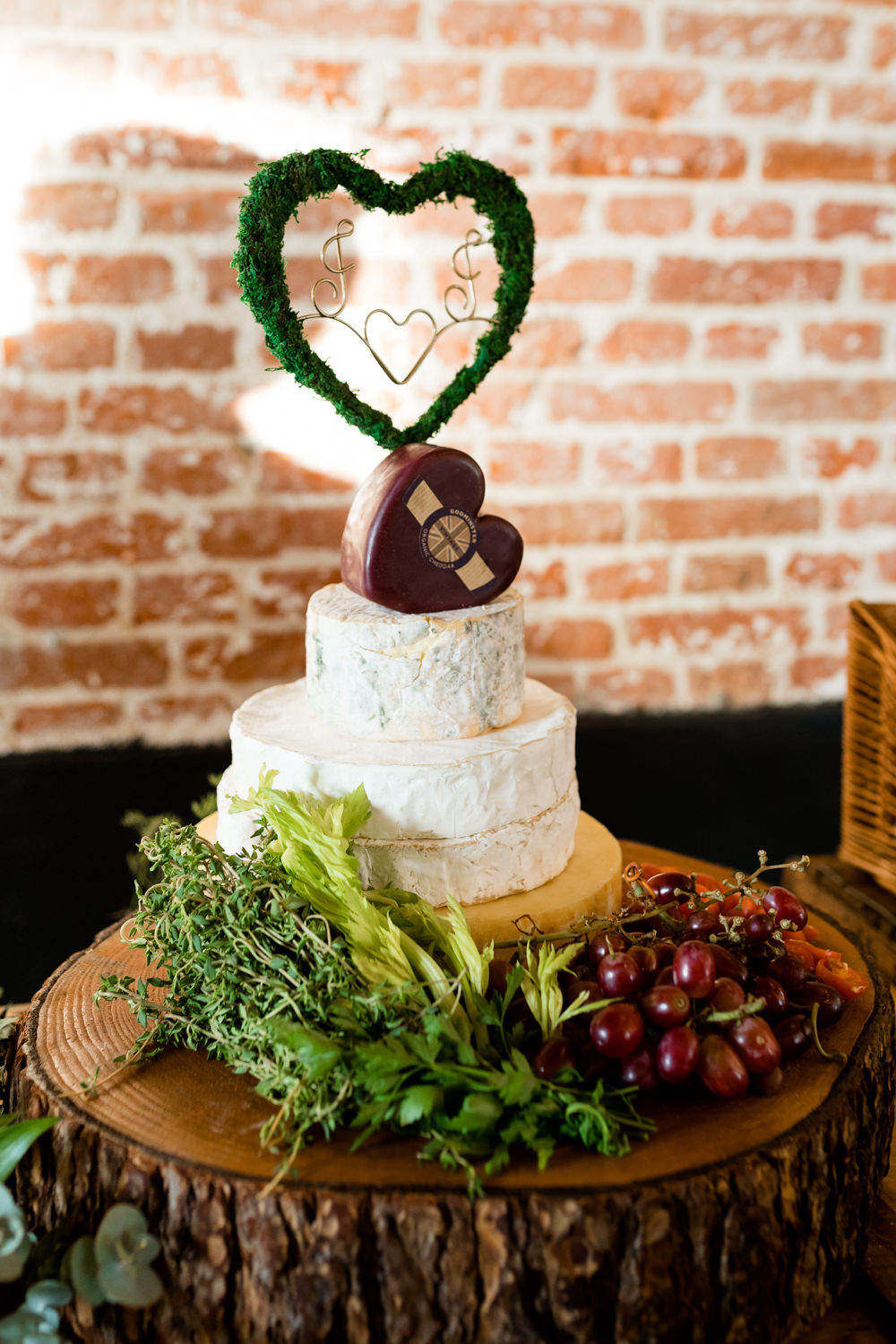 Cheese Tower Cake Botanical Barn Wedding Heather Jackson Photography