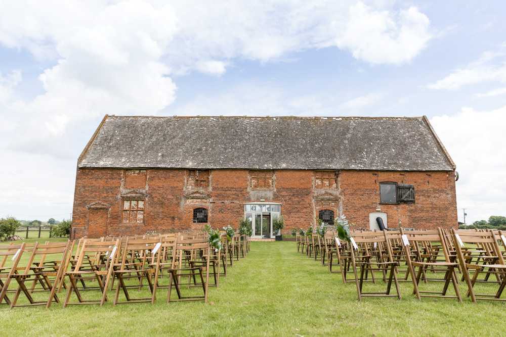 Outdoor Ceremony Aisle Ends Greenery Botanical Barn Wedding Heather Jackson Photography
