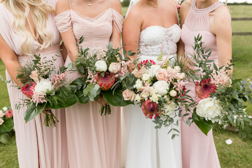 Bride Bridal Bridesmaids Bouquets Botanical Barn Wedding Heather Jackson Photography