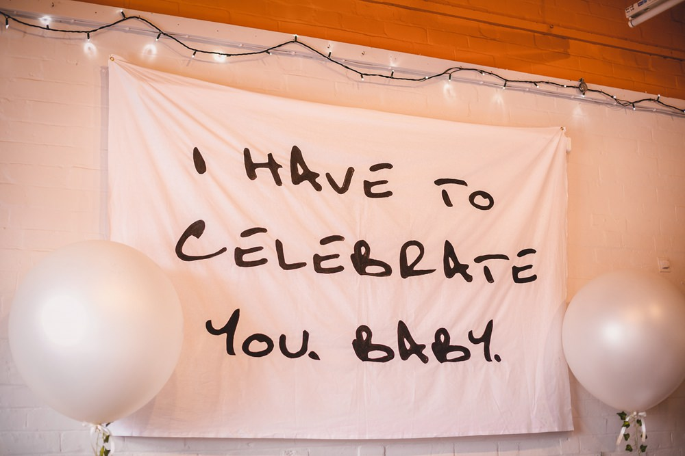 I Have to Celebrate You Baby Banner Decor DIY Bohemian Wedding Love & Bloom Photography