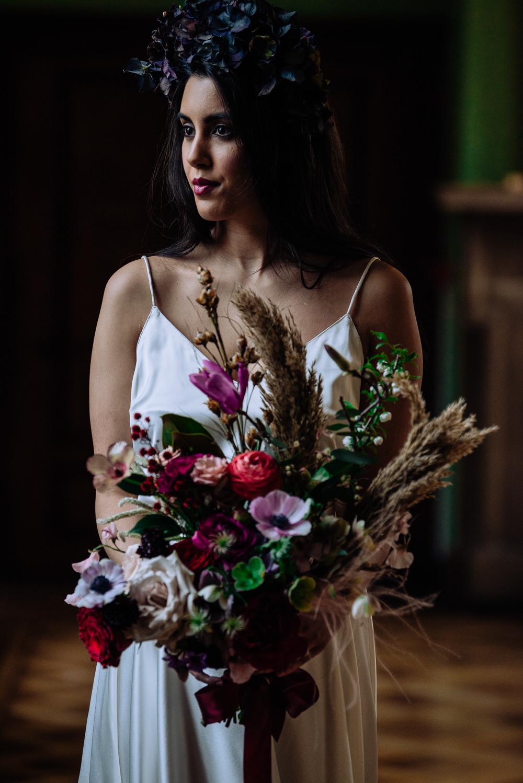 Dutch Art Wedding Ideas Berni Palumbo Photography Bride Bridal Hydrangea Flower Crown Headdress